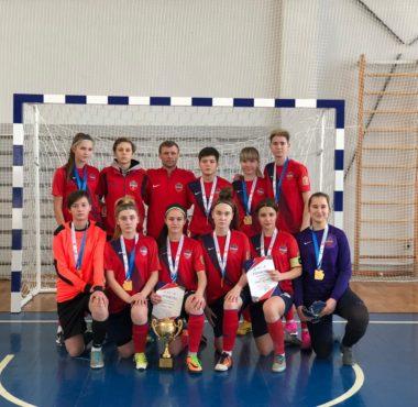 СШОР Енисей Чемпионы первенства Красноярского края по мини-футболу среди девушек до 16 лет.