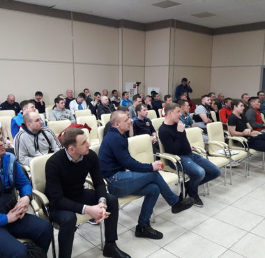 """20200313 123113 380x370 - КГАУ """"СШОР по футболу """"Енисей"""" впервые в своей истории провел семинар для тренеров."""