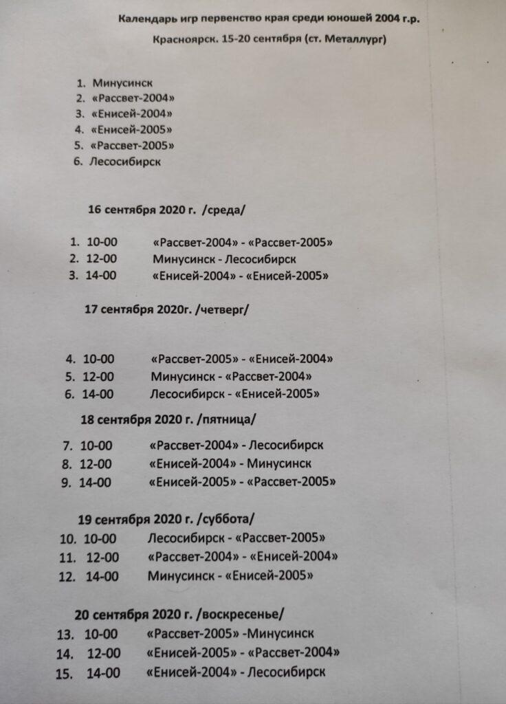 В Красноярске стартует первенство Красноярского края по футболу среди юношей 2004 г.р.